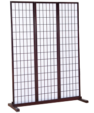 shoji single panel with base support